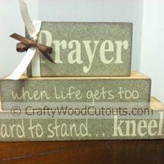 prayer stacking blocks