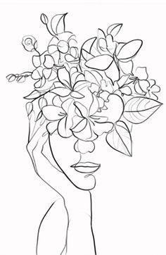 Art Sketches, Art Drawings, Abstract Face Art, Outline Art, Line Art Design, Minimalist Art, Embroidery Art, Doodle Art, Diy Art