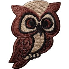 Brown Owl Embroidered Iron / Sew On Patch Bag Jacket Shirt Jeans Badge Transfer  | eBay