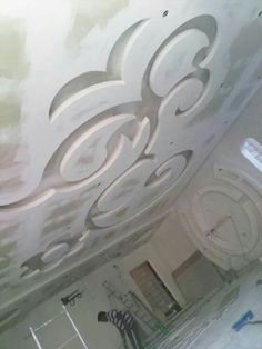 Gypsum Ceiling Design, Bedroom False Ceiling Design, Exterior Design, Interior And Exterior, Plafond Staff, 3d Model Architecture, Clay Wall Art, Plasterboard, Kitchen Room Design