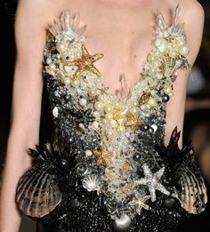 Mermaid Dress - an amazing use of beading and embellishment.