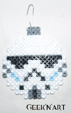 Stormtrooper - Star Wars Christmas ornament hama beads by Geeknart
