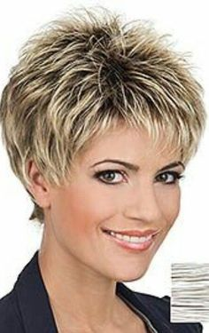 30 Refreshing Variations of Short Pixie Haircut Wigs - Short Pixie Cuts Short Pixie Haircut Wigs The main highlight of pixie haircuts can be considered the difference in the length of all hair (which does not fall below . Short Choppy Hair, Short Thin Hair, Short Grey Hair, Short Pixie Haircuts, Short Hair With Layers, Pixie Hairstyles, Hairstyles 2016, Short Pixie Cuts, Short Shag
