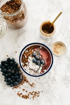 Almond Butter Acai Bowl + Toasted Coconut Recipe - The Daily Dose