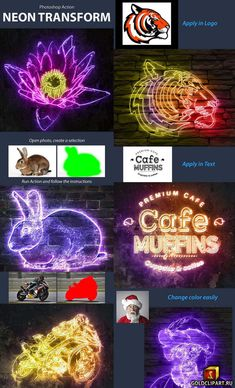 Neon Transform 23681747 - New Sites Photoshop For Photographers, Photoshop Photography, Photoshop Tutorial, Photoshop Actions, Adobe Photoshop, Online Graphic Design, Prince Of Persia, Color Change, Photo Editing