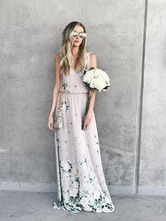 58879c913f Floral Maxi Dress Casual Bridesmaid Dresses