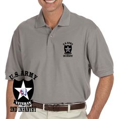 Grab a unique US Army 2nd Infantry Division Veteran Grey Performance Polo Shirt today. These good looking polos will keep you cool as they are performance wicking, stain-resistant & offer UV Protection. Designed, Printed & Sublimated in the USA -Fabric Imported.