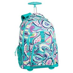 Gear-Up Paisley Rolling Backpack #pbteen