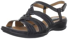 Clarks Women's Tiffany Molly Slingback Sandal * Discover this special product, click the image : Clarks sandals Clarks Sandals, Shoes Sandals, Slingback Sandal, Mom Style, Black Leather, Tiffany, Stuff To Buy, Mom Fashion, Amazon
