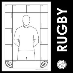 A fun activity when studying sport or a big event such as the Rugby World Cup.WHAT TO DO:Research information about a rugby player and record it in the boxes around the border. Add hair and facial features to the body outline.Colour the uniform (as it currently is, or design a new one). 4 DIFFEREN... Spelling Words, Sight Words, School Resources, Teaching Resources, Body Template, Body Outline, Rugby World Cup, Rugby Players