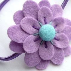 me ~ Lilac Flower, felt headband Lilac Flowers, Felt Flowers, Diy Flowers, Fabric Flowers, Felt Roses, Elastic Headbands, Baby Headbands, Flower Headbands, Felt Crafts