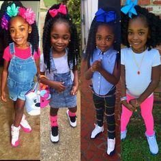 Little Girl Swag, Cute Little Girls Outfits, Kids Outfits, Black Kids Hairstyles, Little Girl Hairstyles, Cute Black Babies, Cute Baby Girl, Cute Kids Fashion, Little Girl Fashion