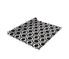 Self Adhesive Shelf Liner 2 Pack Madison Black Square feet Drawer Liners cabinet #TheMacbethCollection