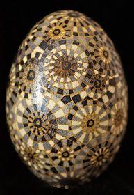 Pysanka Egg by Katyegg Design. I love the muted grays.