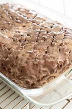Chocolate tres leches cake after being soaked with milk Chocolate Tres Leches Cake, Chocolate Cake, Easy Cake Recipes, Easy Meals, Milk, Baking, Desserts, Kitchen, Food