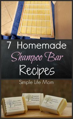 7 Homemade Shampoo Bar Recipes - cold process soap from Simple Life Mom - - 7 Homemade Shampoo Bar Recipes - cold process soap from Simple Life Mom Make DIY Shampoo at Home Shampoo Hair at Home Tips DIY Tutorial Dark Highlight. Diy Shampoo, Homemade Shampoo And Conditioner, Soap Nuts Shampoo, How To Make Shampoo, Lush Shampoo Bar, Conditioning Shampoo, Moisturizing Shampoo, Diy Savon, Homemade Soap Recipes