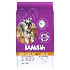 Iams Senior  Mature Dry Dog Food Chicken 1kg PACK OF 4 *** More info could be found at the image url.