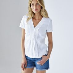Laundered Linen Top | The White Company
