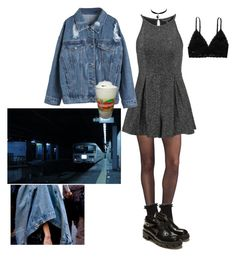 """""""train station"""" by heremystyle ❤ liked on Polyvore featuring Wolford, Topshop, Monki, Zara and Chicnova Fashion"""