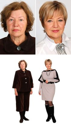 Haare, Outfit und Make-up Styling Tipps von Bogomolov Image Short Hair Cuts For Women, Short Hair Styles, Makeup Over 50, Over 60 Fashion, 50 Fashion, Lolita Fashion, Fashion Boots, Fashion Dresses, Beauty Makeover