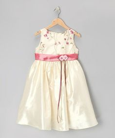 Another great find on #zulily! Ivory & Rose Embroidered Floral Dress - Infant, Toddler & Girls by Kid's Dream #zulilyfinds $30.99