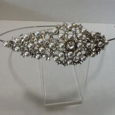 Tiaras4u Vintage crystal and pearl cluster bridal wedding side tiara  Only £20, looks similar to the one i tried on