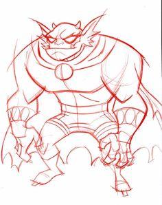 Etrigan the Demon by Shane Glines Character Design Animation, Character Design References, Character Art, Cartoon Drawings, Cartoon Art, Retro Cartoons, Creature Design, Comic Art, Comic Book