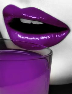 Gotta love what evidence the purple lips leave and what my underwear would look like afterwards The Purple, All Things Purple, Purple Haze, Shades Of Purple, Purple Stuff, Purple Glass, Magenta, Lip Pictures, Green Pictures