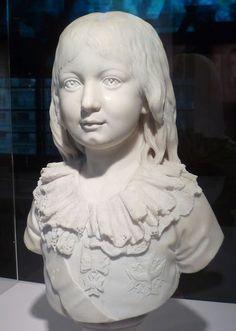 Marble bust of Louis XVII (1785-1795), 1790 by Louis-Pierre Sedeine (1749-1822) (Versailles)