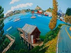 Port Chalmers by Timo Rannali. Port Chalmers is the main port of Dunedin situated along the coastline of Otago Harbour, this picture is looking across the Harbour to the Otago Peninsula in the background.