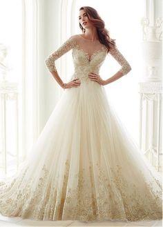 Fantastic Tulle Bateau Neckline A-line Wedding Dresses