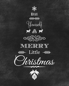 Print out these FREE high resolution chalkboard printables for the holidays. They come in both black and green chalkboard versions for your Christmas decor.