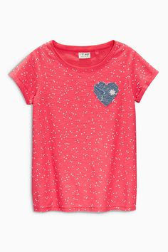 Buy Heart Print T-Shirts Two Pack (3-16yrs) from the Next UK online shop