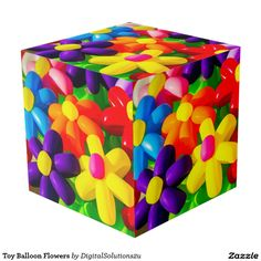 Toy Balloon Flowers Cube