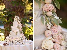 Flower Adorned Wedding Cakes Wedding Cakes Photos on WeddingWire