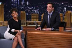 Watch: Jimmy Fallon and Halle Berry Form a Human Wheel