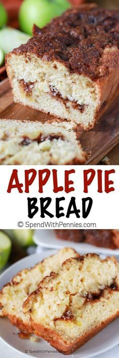 Warm Apple Pie Bread starts with a soft buttery baseand loads…: