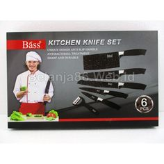 B 6 Pcs Kitchen Knife Set