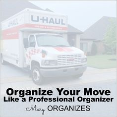 Organize Your Move Like a Professional Organizer -- Free Printable -- #moving #organization