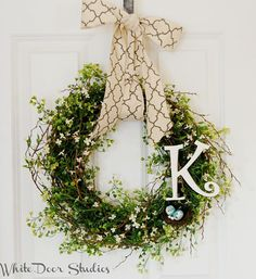 Personalized Greenery Wreath