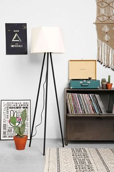 "Magical Thinking Geo Floor Lamp - Urban Outfitters 65"" tall 150watt three way"