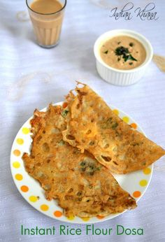 Instant Rice Flour Dosa for quick breakfast or dinner option