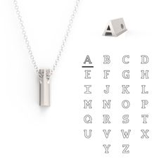 Structural and sleek, the Hidden Message Necklace Collection brings hidden complexity and bold design to elevate your look in sterling silver letters. Arrow Necklace, Pendant Necklace, Letter, Sterling Silver, Accessories, Jewelry, Jewlery, Bijoux, Jewerly