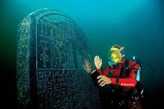 Heracleion, also known as Thonis, was an ancient Egyptian city near Alexandria whose ruins are located in Abu Qir Bay