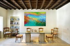Across The Way. Large Abstract Art. Modern Art. MarkLawrenceGallery.com