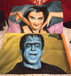 The Munsters His and Hers Pillow Case Set by Totalchaosbootique