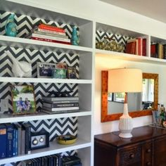 An incredibly simple update to any book case!