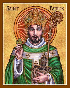 St. Patrick   http://www.saintnook.com/saints/patrickofireland    St. Patrick Icon by Theophilia on DeviantArt