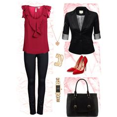"""""""Meaning business"""" by sonjeka on Polyvore"""