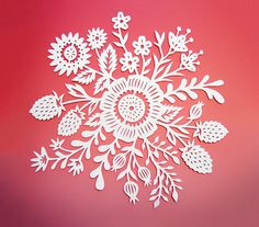 This is an original papercut illustration, cut completely by hand with an x-acto knife. It is drawn by hand and then cut one piece at a time so